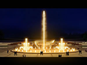 Programmed Animated Fountain
